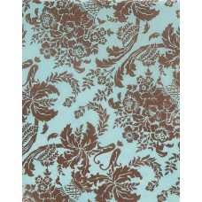 Brown Aqua Damask Tissue Paper, 20 x 30\