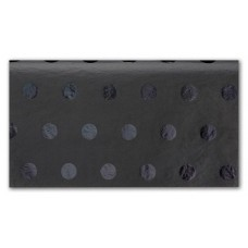 Black on Black Hot Dots Tissue Paper, 20 x 30\