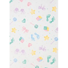 Baby Prints Tissue Paper, 20 x 30\