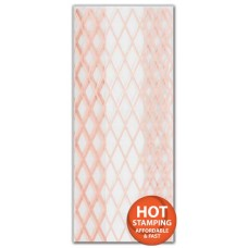 Rose Gold Lattice Cello Bags, 4 x 2 1/2 x 9 1/2\