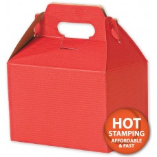 Red Varnish-Striped Gable Boxes, 8 x 4 7/8 x 5 1/4\