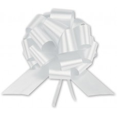 White Satin Perfect Pull Bows, 18 Loops, 4\