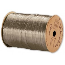 Pearlized Wraphia Taupe Ribbon, 1/4\