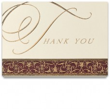 Business Thank You Cards - Elegant Script (Imprinted/50B14)