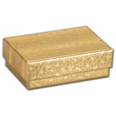 Gold Foil Embossed Jewellery Boxes, 1 5/8 x 1 5/8 x 1 1/4\