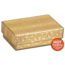 Gold Foil Embossed Jewellery Boxes, 2 7/16 x 1 5/8 x 13/16\