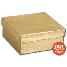 Gold Foil Embossed Jewellery Boxes, 3 1/2 x 3 1/2 x 1 1/2\
