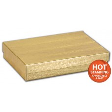 Gold Foil Embossed Jewellery Boxes, 5 7/16 x 3 1/2 x 1\