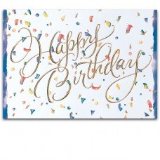 Business Birthday Cards  - Confetti (Imprinted/5EF11)