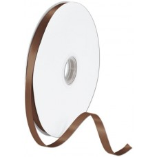Double Face Chocolate Satin Ribbon, 3/8\