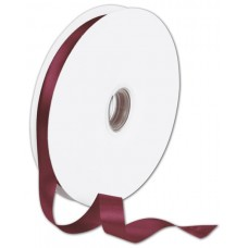 Double Face Burgundy Satin Ribbon, 5/8\
