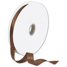 Double Face Chocolate Satin Ribbon, 5/8\
