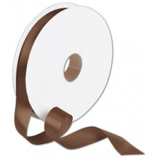 Double Face Chocolate Satin Ribbon, 7/8\