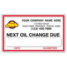 FC Removable Adhesive Labels - Next Oil Change (Imprinted/CC1890B)