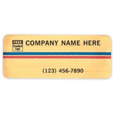 Brushed Gold Laminated Labels (Imprinted/CC355)
