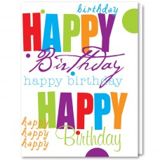 Business Birthday Cards - Happy Birthday (Imprinted/ED929)