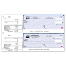 High Security 2-To-A-Page Cheques - 22 Security Features (Original/1-Parts)